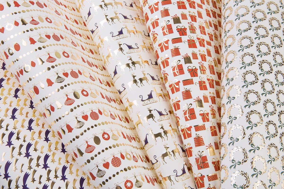 Letterpress decorative papers hot gold foil