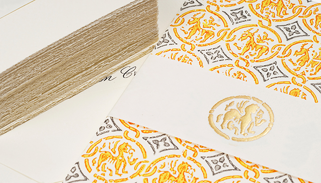 social stationery calligraphy hand made invitation