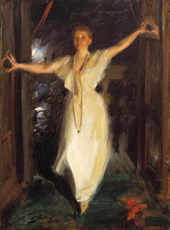 Isabella Stewart Gardner Venice Painting Anders Zorn 1894