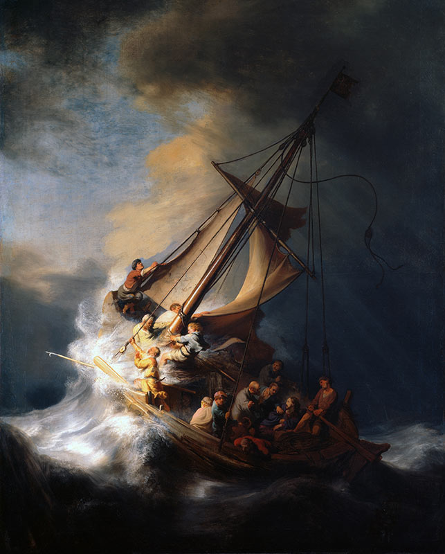 The Storm on the Sea Galilee Rembrandt