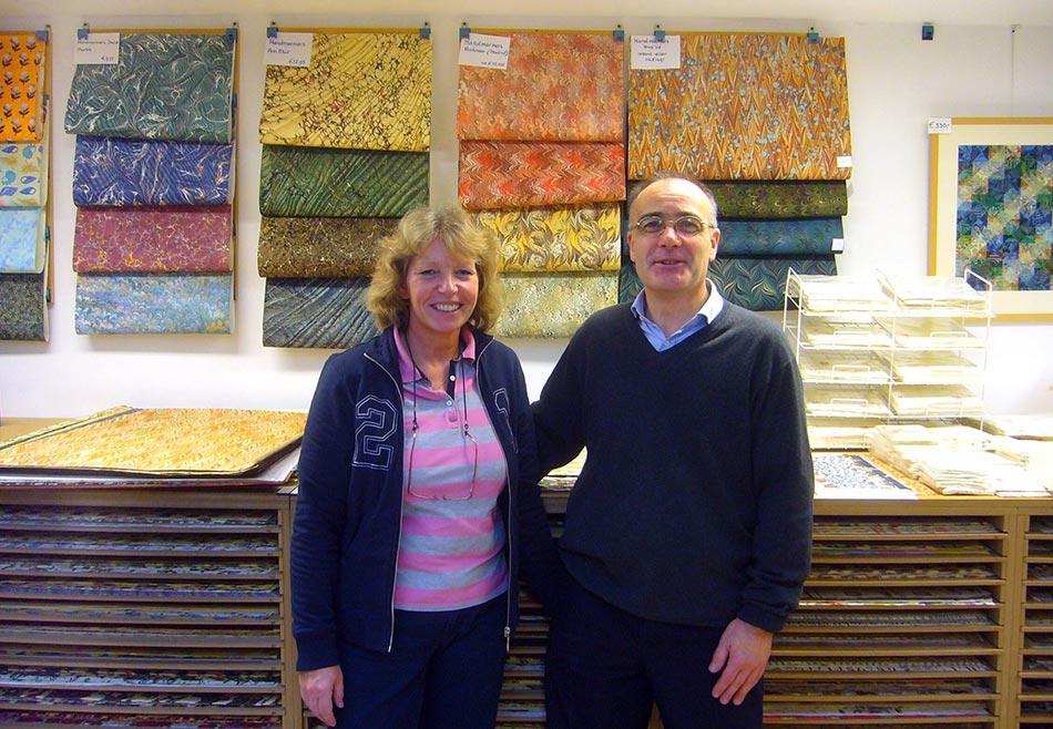 Nicole and Robert Damen are the owners of Damen Papier Royaal