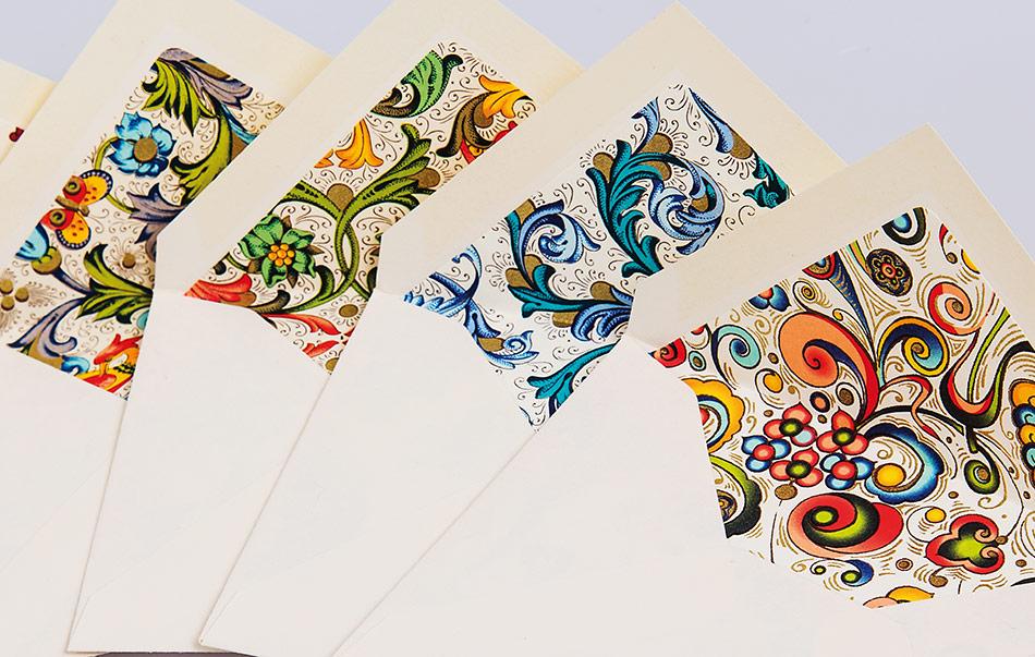 Lined Envelopes 100% cotton paper