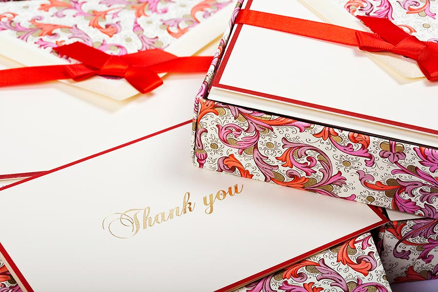 Folded Thank You Cards Lined Envelopes BSC 027T