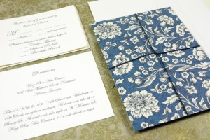 #4: Black backer laminated with Flowered sheet, cord tie and tag