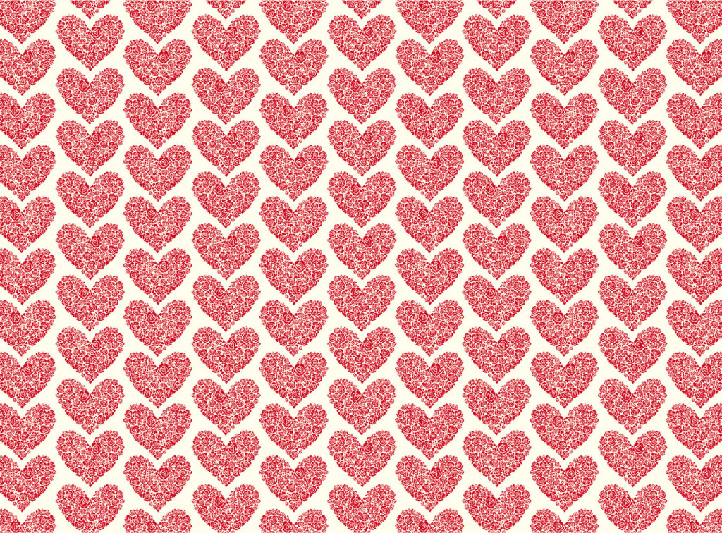 LTP 021 Letterpress flowers create hearts. Available in Notepads and Notebook as well as paper