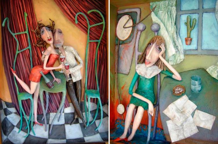 Beata Krampikowski 3-dimensional paintings