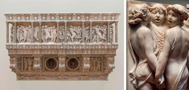 Donatello's Choir Loft and a detail.