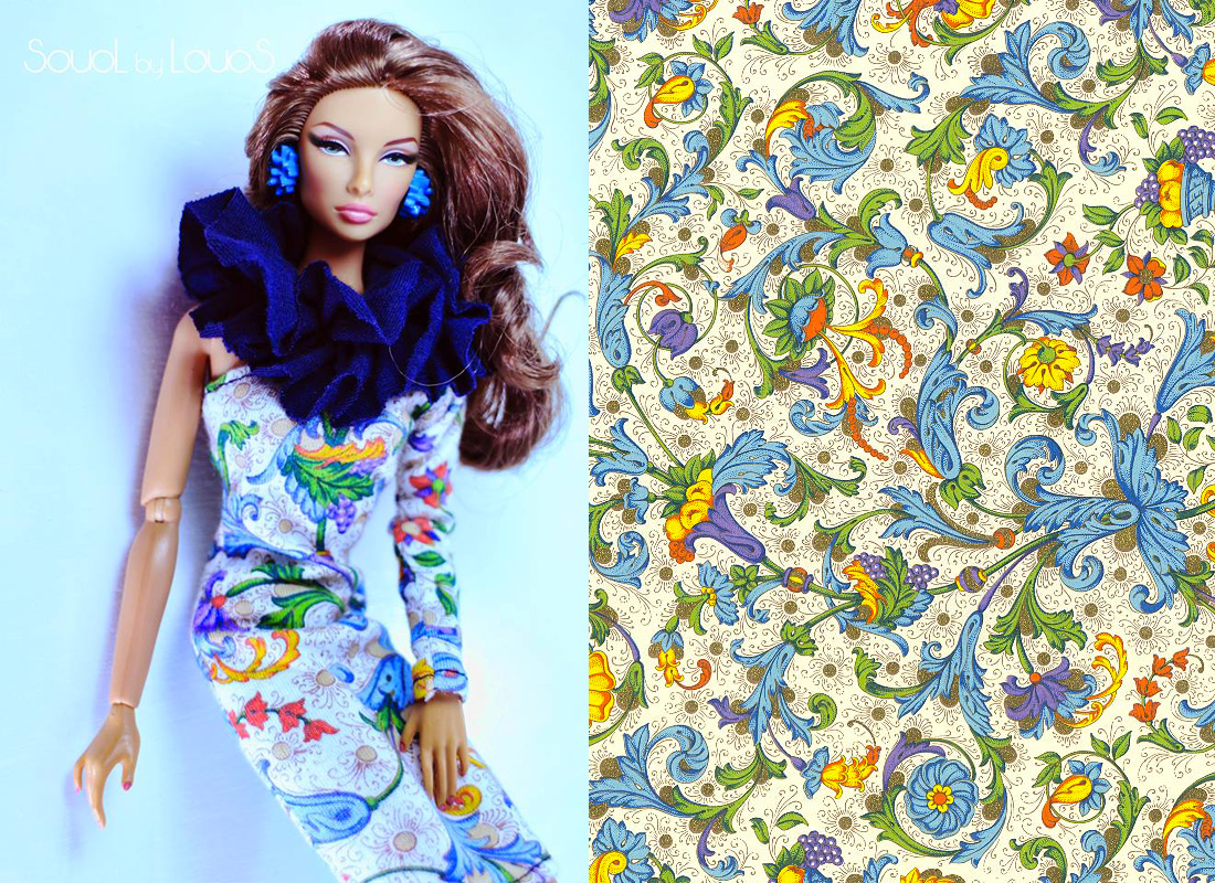 Fashion collection for dolls with decorative papers CRT 009