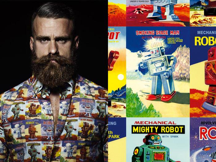 shirt vintage robots crt664 decorative papers rossi1931