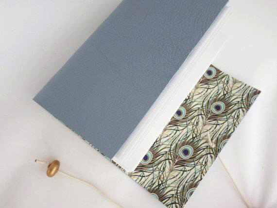Peacock Feather CRT-095 Journal Leather Hand Bound Sketchbook A6