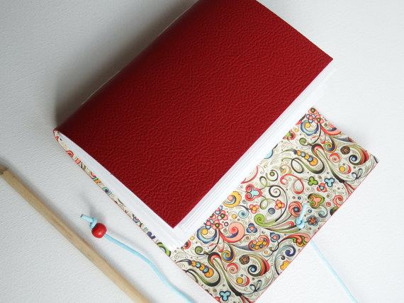 Leather journals with CRT 117 Decorative Papers