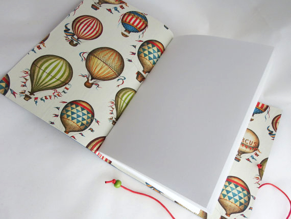 CRT 517 Balloons Leather Journals with Decorative Papers