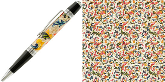 custom pen blanks with CRT001 rossi1931 decorative papers