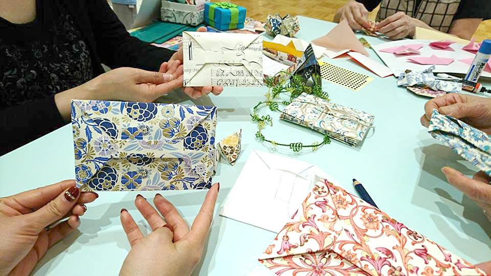 Origami Class Using Rossi 1931 Decorative Papers