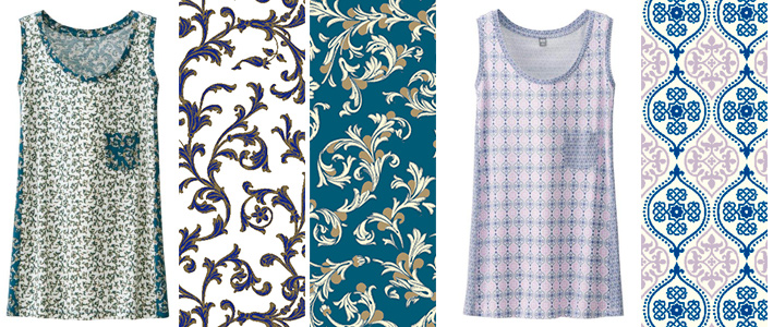 Tank Top: In Florentine style, even classic floral patterns are trendy and fun