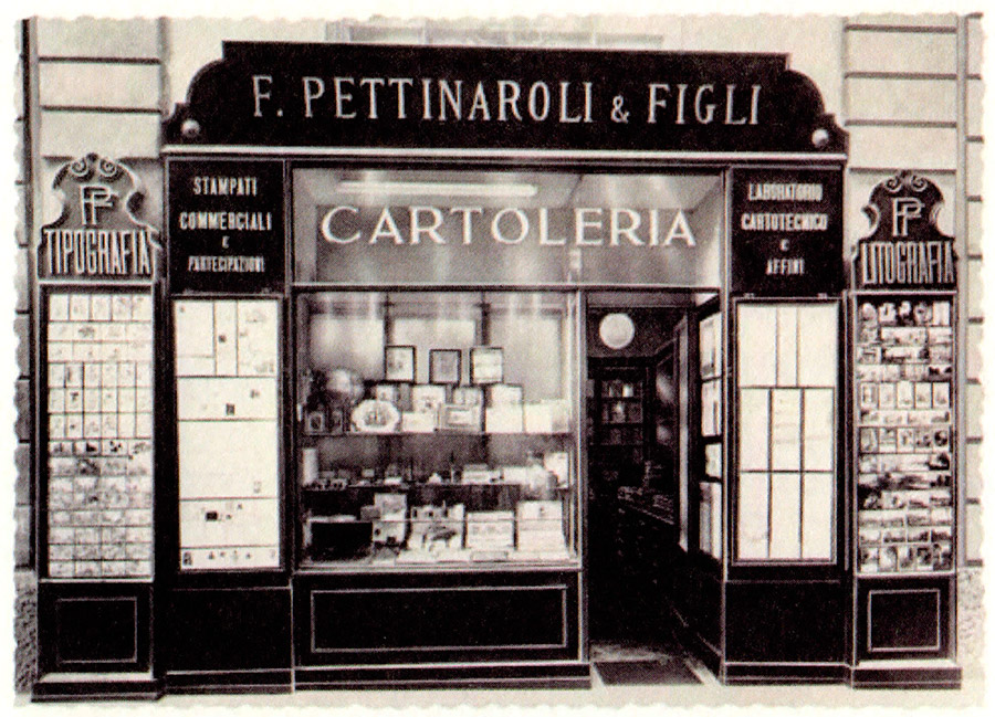 Pettinaroli Milan Italy - Classic stationer shop, since 1881