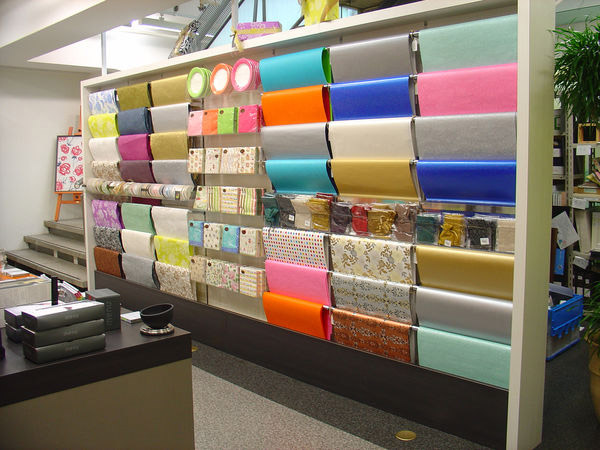 At Itoya, the customers can not only see, but also feel and experience a wide variety of paper