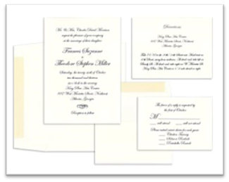 Wedding Invitation with decorative papers Rossi1931
