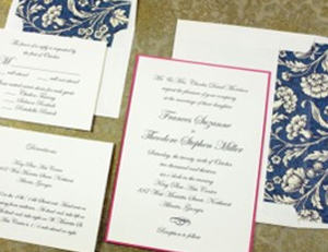 Wedding Invitation with Backer Card Rossi1931