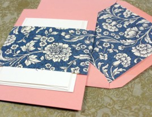 Wedding Invitation with Contrasting Color Envelope Rossi1931