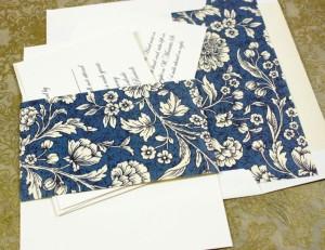 Wedding Invitation with envelope Liner Rossi1931