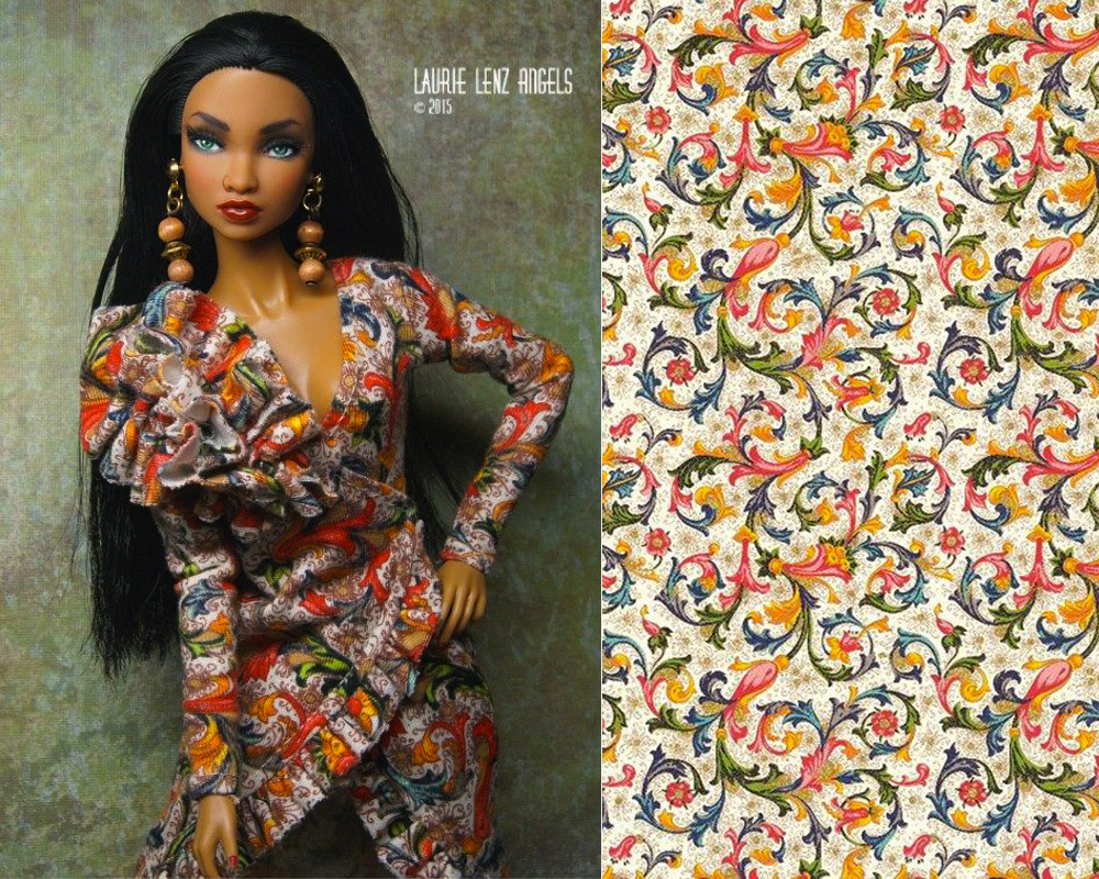 Fashion collection for dolls with decorative papers CRT 001