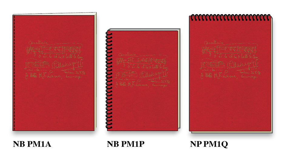 Maestro Pietro Mascagni high quality notebooks notepads