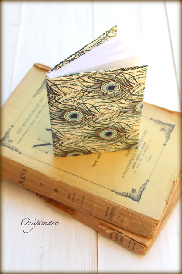 Rossi1931 Origami Origamare Book with Peacock feathers decorative papaers CRT 095