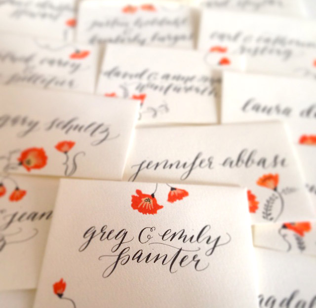 Luxury Social Stationery Feathery Edge - Hand Calligraphy