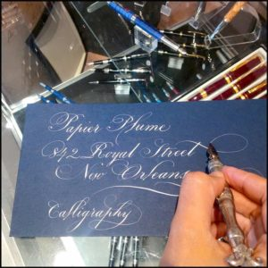 Papier Plume New Orleans Calligraphy