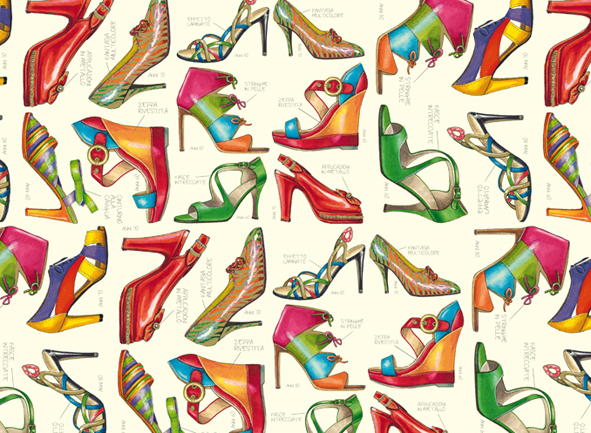 CRT 085 decorative papers fashion shoes