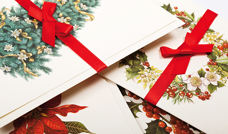 Christmas Holiday Stationery Letterpress Rossi1931
