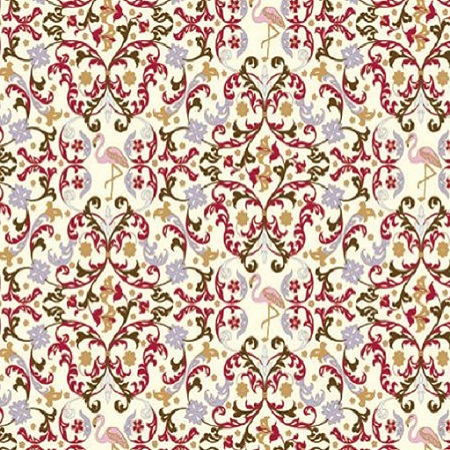 Gift wrapping decorative paper for Christmas with Florentine arabesque designs by Rossi1931